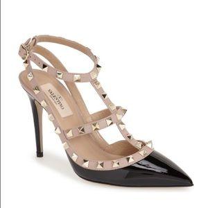 NEW Valentino Garavani Rockstud Ankle Strap Pump